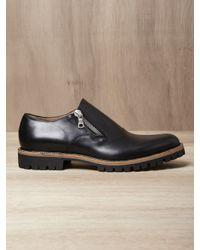 Dries Van Noten Black Mens Round Toe Zip Shoes for men