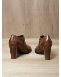Dries Van Noten Brown Snakeskin Half Boots