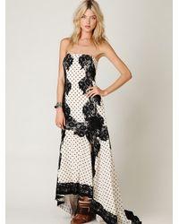 Free People - White Dancing Dot Maxi Dress - Lyst