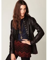 Free People | Brown Muubaa Military Leather Jacket | Lyst