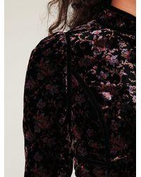 Free People - Black Cropped Velvet Jacket - Lyst