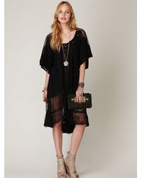 Free People | Black Fp New Romantics All The Best Embroidered Dress | Lyst