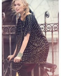 Free People | Black Fp New Romantics Mesh Poncho | Lyst