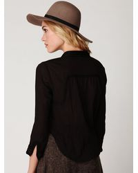 Free People | Black Fp New Romantics Sequin Button Down | Lyst
