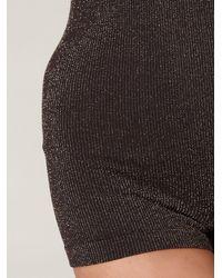 Free People - Black Lurex Now Seamless Bodysuit - Lyst