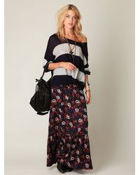 Free People | Black Gypsy Lover Maxi Skirt | Lyst