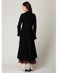 Free People | Black Heritage Wool Coat | Lyst