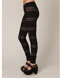 Free People | The Knit Ruffle Legging in Black | Lyst