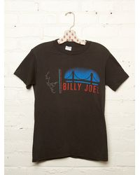 Free People | Black Vintage Billy Joel Tee | Lyst