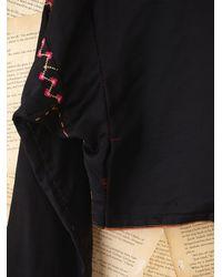 Free People - Black Vintage Embroidered Jacket - Lyst