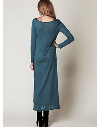 Free People - Blue We The Free Long Sleeve Graphic Maxi Dress - Lyst