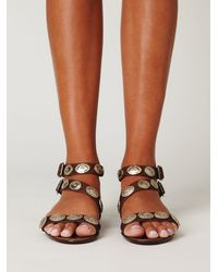 Free People | Brown Concho Sandal | Lyst