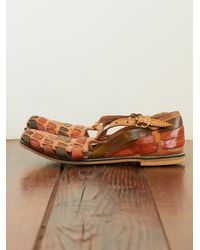 Free People | Brown Vintage Huarache Sandals | Lyst