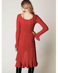 Free People | Red Waterfalls Sweater Dress | Lyst