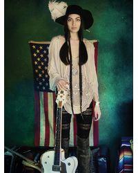 Free People | Metallic Maggie Mae Top | Lyst