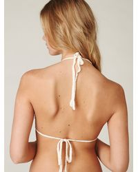 Free People | Natural Crochet Bikini Top | Lyst