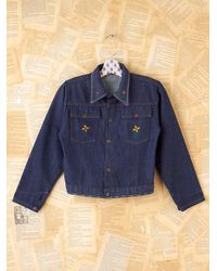 Free People | Blue Vintage 70s Snap Denim Jacket | Lyst