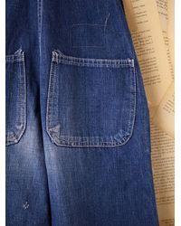 Free People - Blue Vintage Flint Indigo Overalls - Lyst