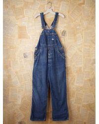 Free People | Blue Vintage Lee Denim Overalls | Lyst