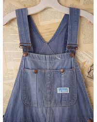 Free People - Blue Vintage Power House Overalls - Lyst