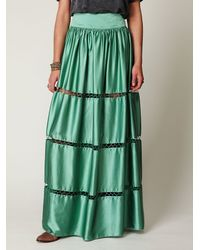 Free People | Green Flawless Maxi Skirt | Lyst