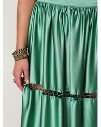 Free People - Green Flawless Maxi Skirt - Lyst