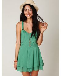 Free People | Green Summer Day Solid Romper | Lyst