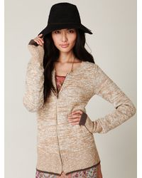 Free People | Gray Sweater Lined Parka | Lyst