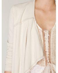 Free People - White Cropped Back Layered Jacket - Lyst