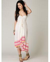 Free People - White Fp One Wavebreak Smocked Tube Dress - Lyst