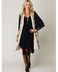 Free People | Natural Long Reversible Fur Vest | Lyst