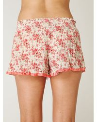 Free People - White Pleated Tap Short - Lyst