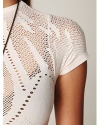 Free People | White Vacation Henley | Lyst