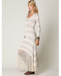 Free People - Natural Striped Maxi Dress - Lyst