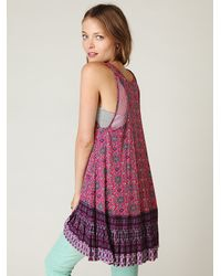 Free People | Pink Fp One Medallion Pleated Tunic | Lyst