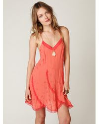 Free People | Pink Viscose Voile Slip | Lyst
