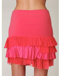 Free People | Pink Fp One Ruffled Layers Skirt | Lyst