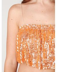 Free People | Orange Fp One Sequin Cami | Lyst
