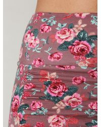 Free People | Brown Large Vintage Floral Scrunch Skirt | Lyst