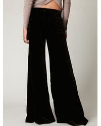 Free People | Green Fp Velvet Extreme Wideleg Pant | Lyst