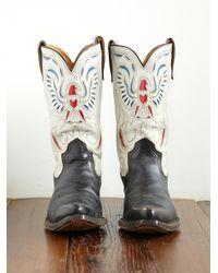 Free People - Multicolor Vintage Eagle Design Acme Western Boot - Lyst
