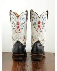 Free People | Multicolor Vintage Eagle Design Acme Western Boot | Lyst