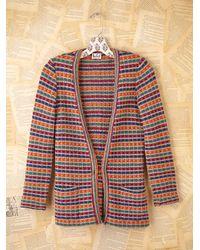 Free People - Multicolor Vintage Striped Cardigan - Lyst
