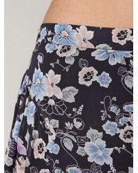 Free People | Blue Sheer Yoke Floral Skort | Lyst