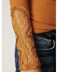Free People - Brown Love And Harmony Sweater - Lyst