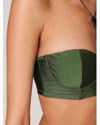 Free People - Green Vacancy Bustier Bikini - Lyst
