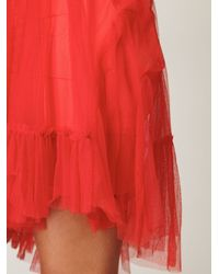 Free People | Orange Fp One Princess Smocking Slip | Lyst