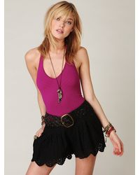 Free People - Pink Halter Chevron Bodysuit - Lyst