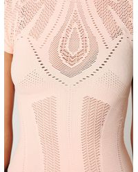 Free People | Pink Seamless Short Sleeve Mockneck Top | Lyst