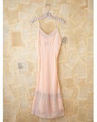 Free People | Pink Vintage Slip Dress | Lyst